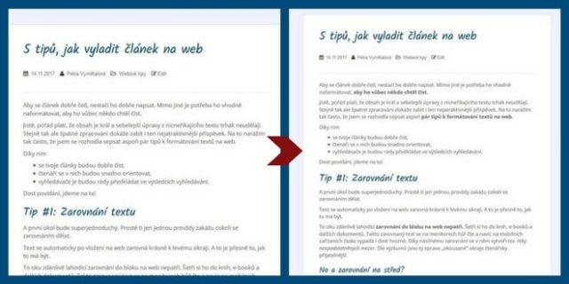 formátování textu na web - tučné písmo a kurzíva