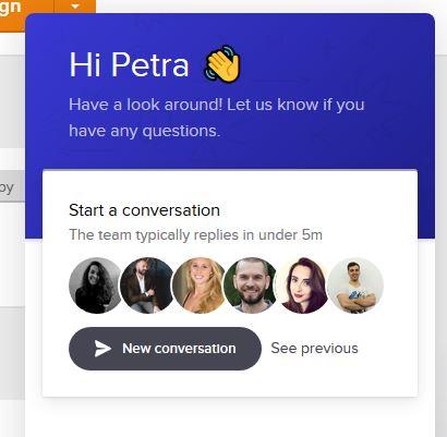MailerLite podpora a online chat