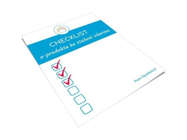 Checklist e-produktu zdarma
