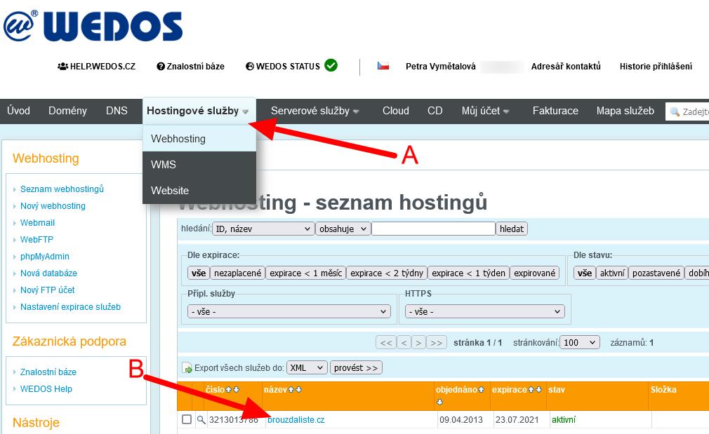 Webhosting-wedos
